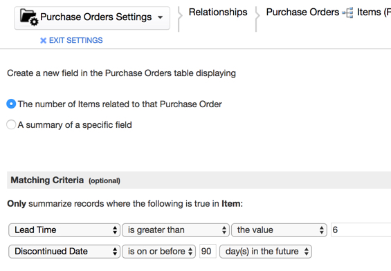 QuickBase AND Conditions in Summary Fields