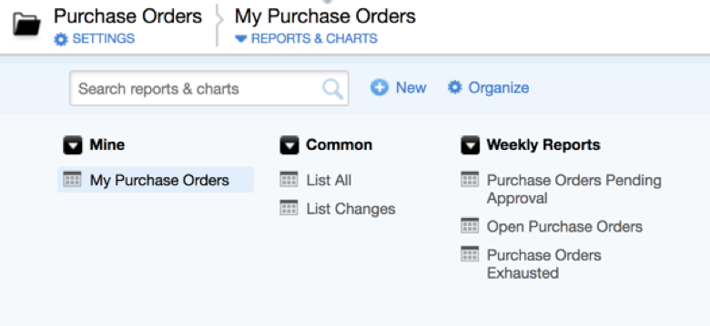 Organize your Quick Base reports into meaningful groups
