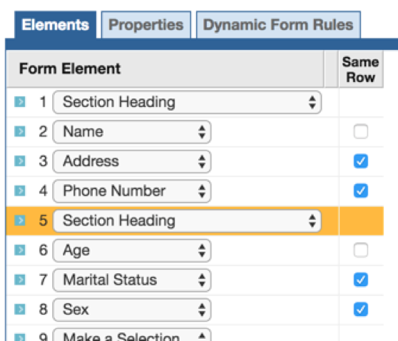Turn Off Horizontal Rules and Add a Section Heading